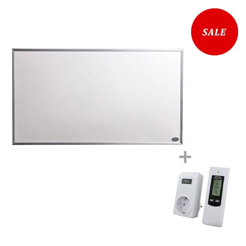 600W Infrared Radiant Panel Heater with Wireless Thermostat Summer Sale