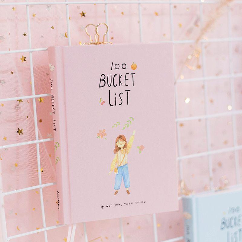 2018 Saison 2 Coréenne Kawaii 100 Seau Liste de Souhaits Plan À faire La Liste Mignon Fleur Coloré En Boîte Planificateur Quotidien Fournitures Scolaires A5