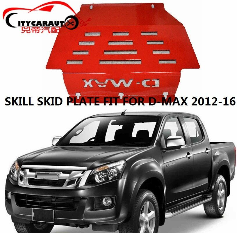 CITYCARAUTO FRONT Engine base plate car bottom cover plate STEEL SKID PLATE fit for ISUZU D-MAX DMAX 2012-2016 CAR