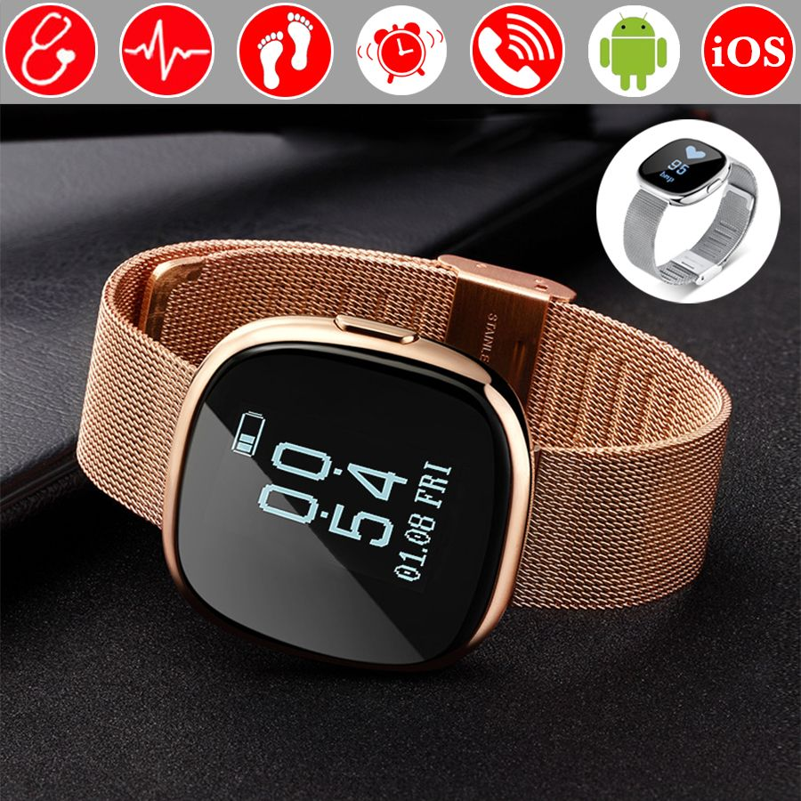 Blood Pressure Bluetooth Connectivity Smart Watch Clock Waterproof Swim Heart Rate Smartwatch Fitness Watch For Android iOS