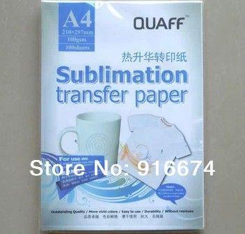 Schnelles Freies verschiffen 1000 blatt A4 sublimation transferpapier kopierpapier für becher bord kissen hemd