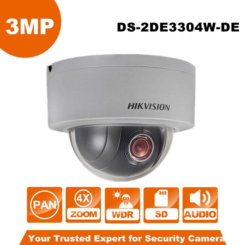 English Version Hikvision PTZ IP Camera DS-2DE3304W-DE 3MP Network Mini Dome Camera 4X Optical Zoom Support Ezviz Remote View