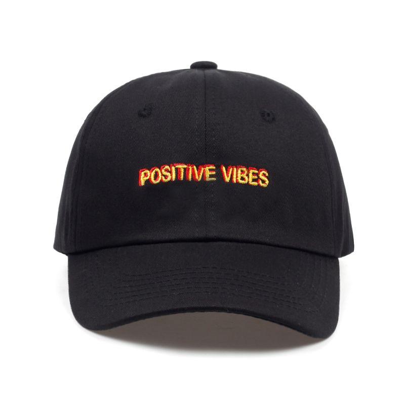 2018 new Positive Vibes Cotton Embroidery Baseball cap men women Summer fashion Dad hat Hip-hop caps wholesale