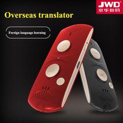 JWD English Spanish Arabic French portuguese Translator portable Voice translation 28 languages Travel Phone APP Intelligence