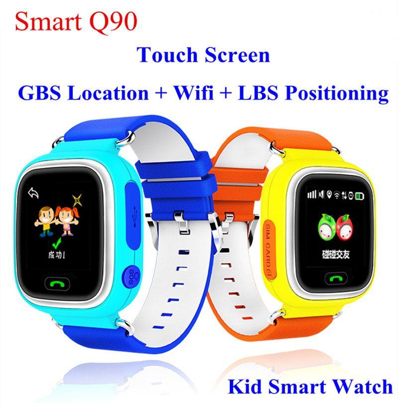 Q90 GPS отслеживания часы Сенсорный экран WI-FI местоположение GPS Смотреть Дети sos-вызов Finder трекер для детей безопасный анти потерял Мониторы