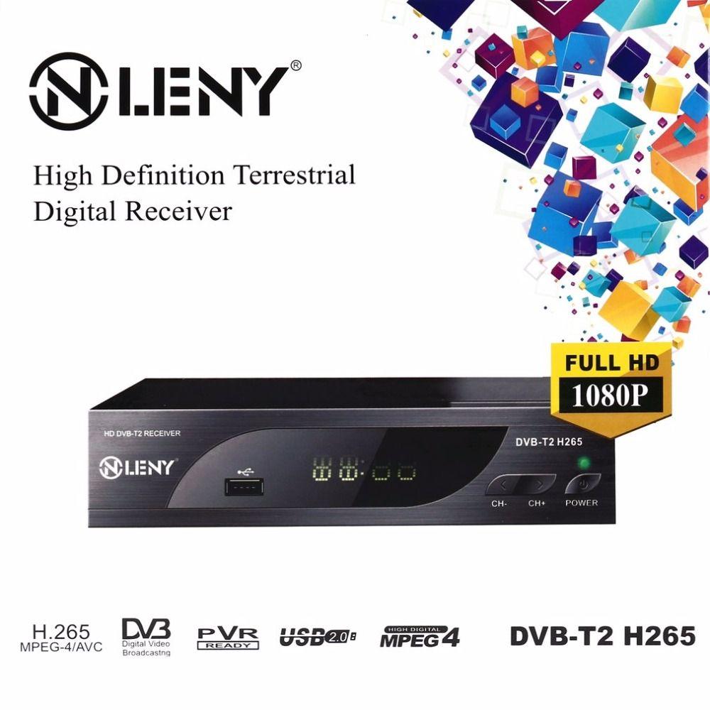 DVB-T2 H.265 Full HD 1080 P Высокое разрешение цифрового ресивера USB2.0 Порты и разъёмы с PVR Функция и внешние hdd черный