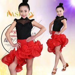Anak sexy latin dance dress untuk kompetisi ballroom dance dress gadis dancewear anak kostum balet vestido baile latino 89