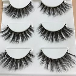 HBZGTLAD Sexy 100% Handmade 3D mink hair Beauty Thick Long False Mink Eyelashes Fake Eye Lashes Eyelash High Quality
