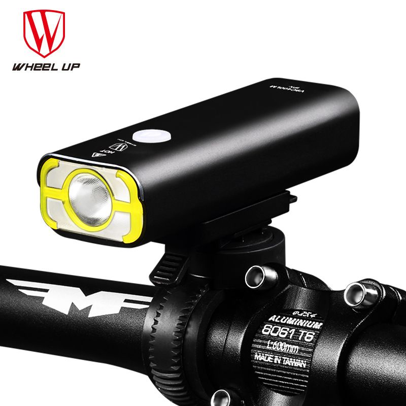 WHEEL UP Usb Rechargeable Bike Light Front Handlebar Cycling Led Light Battery Flashlight Torch Headlight Bicycle Accessories