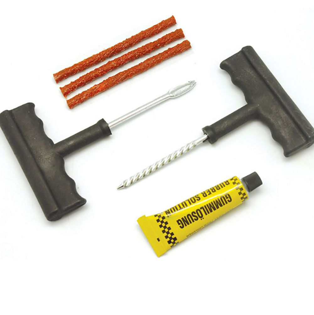 Car Bike Auto tubeless Tire Repair Kit Tyre Puncture Plug Repair Tool Kit Puncture Tubeless Tire Plug Repair Tool 6pcs per set