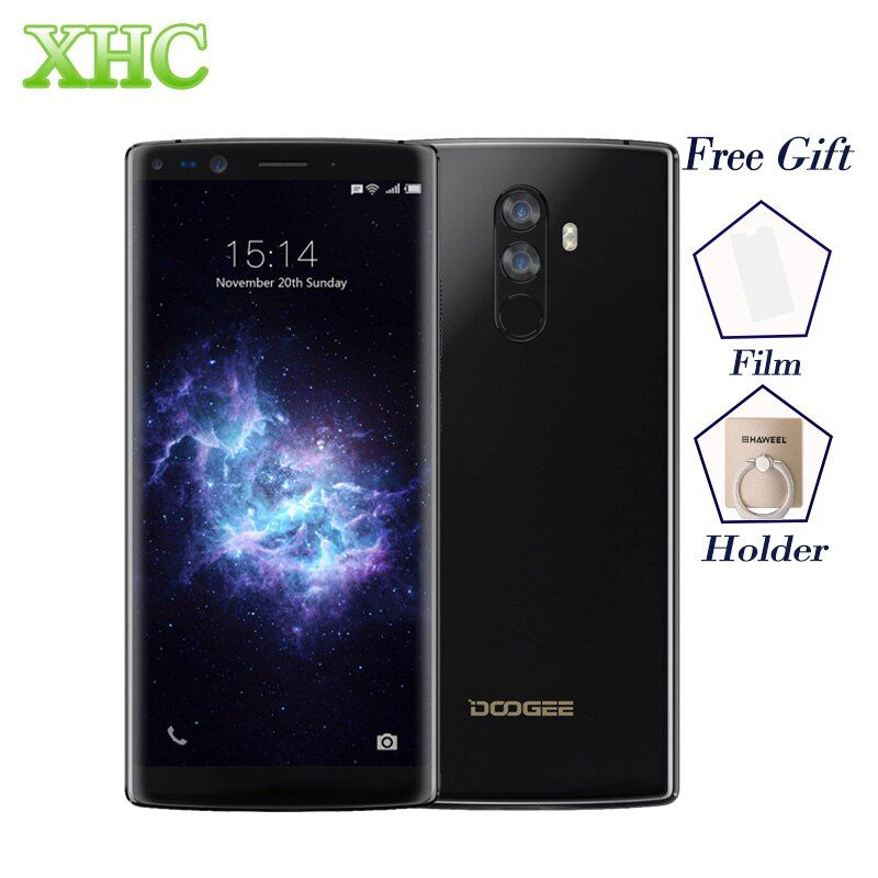 5.99'' DOOGEE MIX 2 4G LTE Mobile Phone RAM 6GB ROM 64GB 16MP+13MP Android 7.1 FHD+ 2160*1080 Octa Core Dual SIM GPS Smartphones