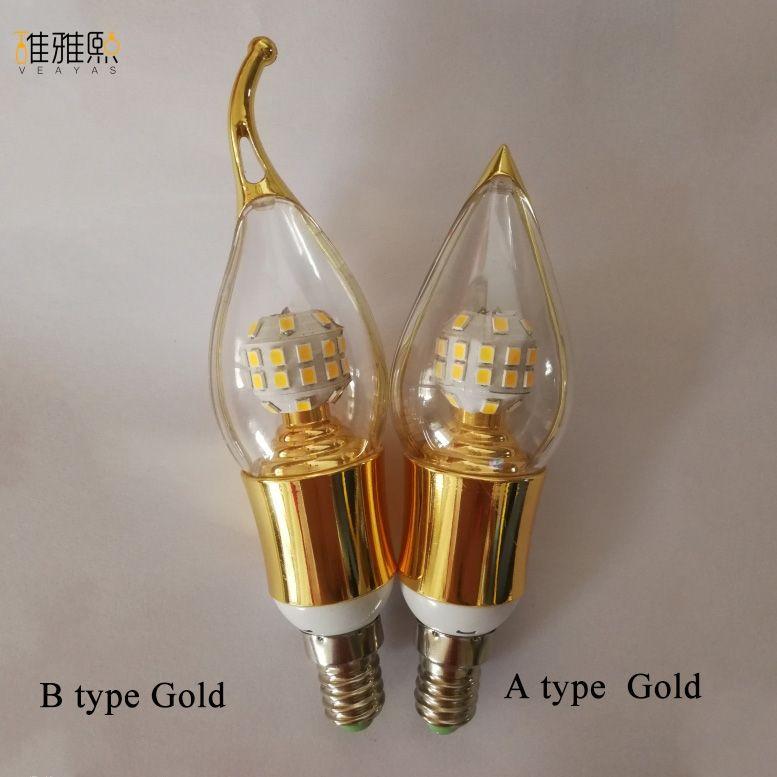 Qualité supérieure E14 Lampada LED Ampoule 110 v 220 v Bombillas LED Lampe Projecteur LED 2835SMD Lampara Spot bougie lampe bougie lumières
