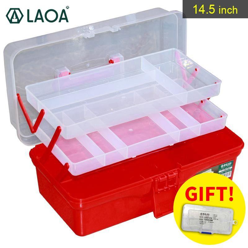 LAOA coloré plié boîte à outils boîte de travail pliable boîte à outils armoire à pharmacie manucure Kit Workbin pour le stockage