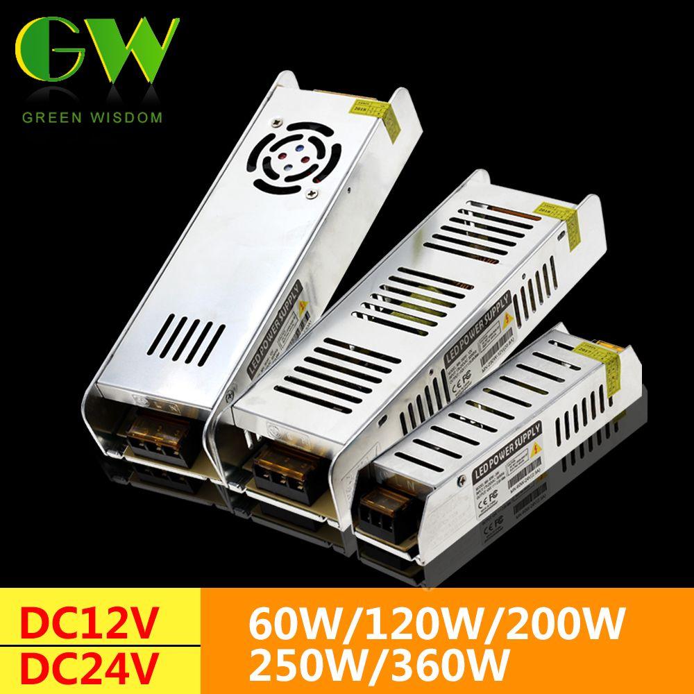 LED Netzteil DC12V 60 watt 120 watt 200 watt 250 watt 360 watt Led-treiber Power Adapter Beleuchtung Transformatoren
