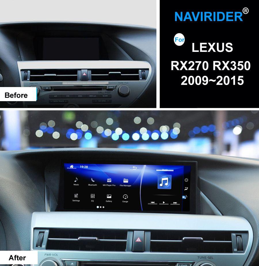 Navirider Android 7.1 Auto-Radio-Player Für LEXUS RX270 RX350 2009 ~ 2015 Top-ausgestattet GPS Navi steuergerät OBD Bildschirm media keine CD DVD