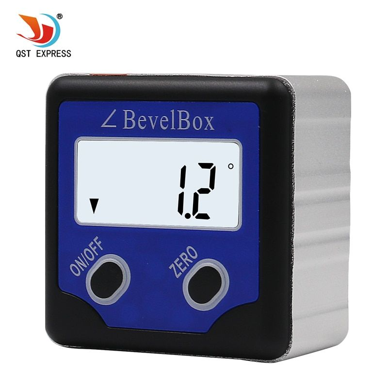 Pecision Digital Protractor Inclinometer Level Box Digital Angle Finder Bevel Box With blue