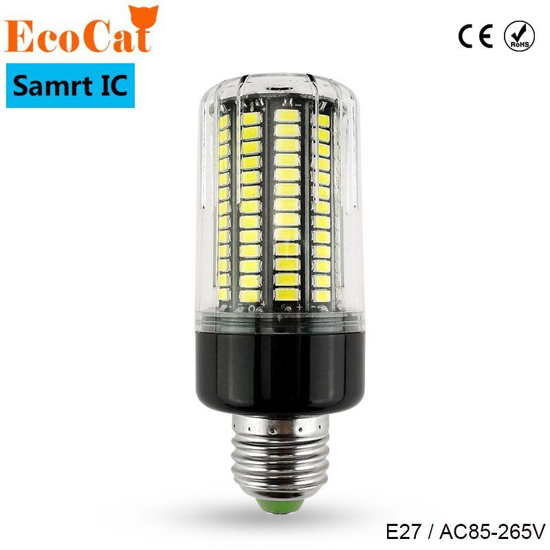 Настоящее нет мерцания светодио дный лампы E27 220 В Smart Мощность IC дизайн светодио дный лампы 5736 SMD пятно света высокая яркость света мозоли