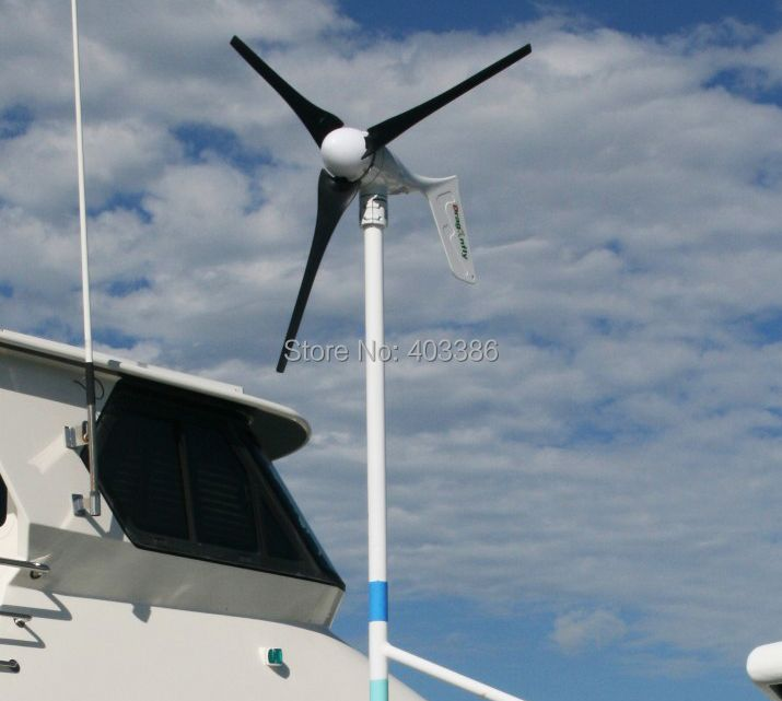 400 Watt wind turbine generator, 12 V/24 V/48 V optional, Freies verschiffen!