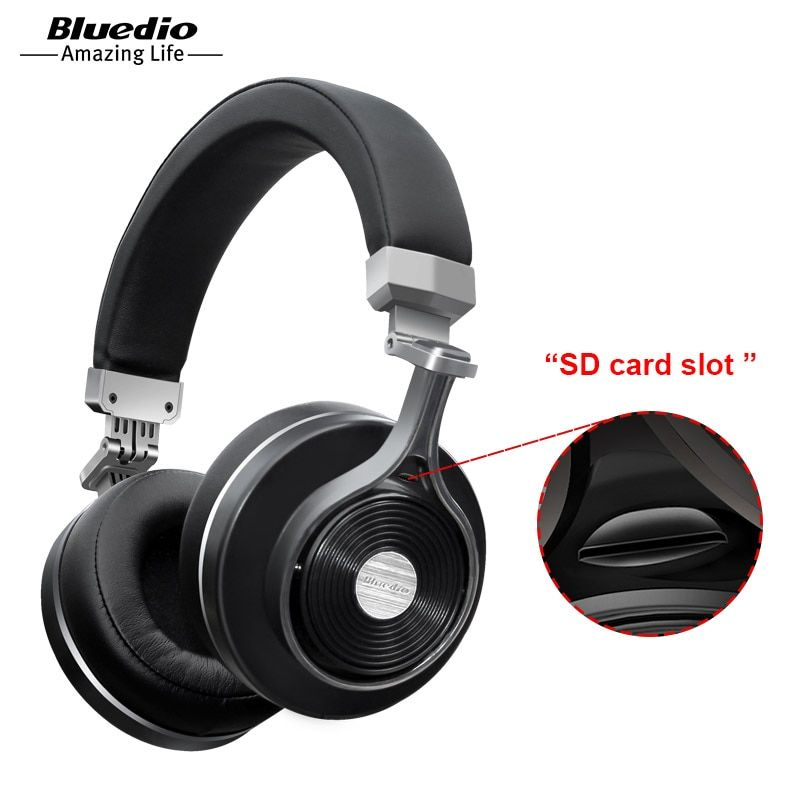 Bluedio T3 Plus Wireless Bluetooth Headphones/headset with Microphone/Micro SD <font><b>Card</b></font> Slot bluetooth headphone/headset