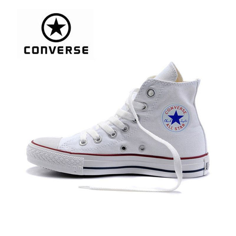 New Arrival Original Converse Classic Unisex Canvas <font><b>Skateboarding</b></font> Shoes High top Anti-Slippery Sneaksers Classique