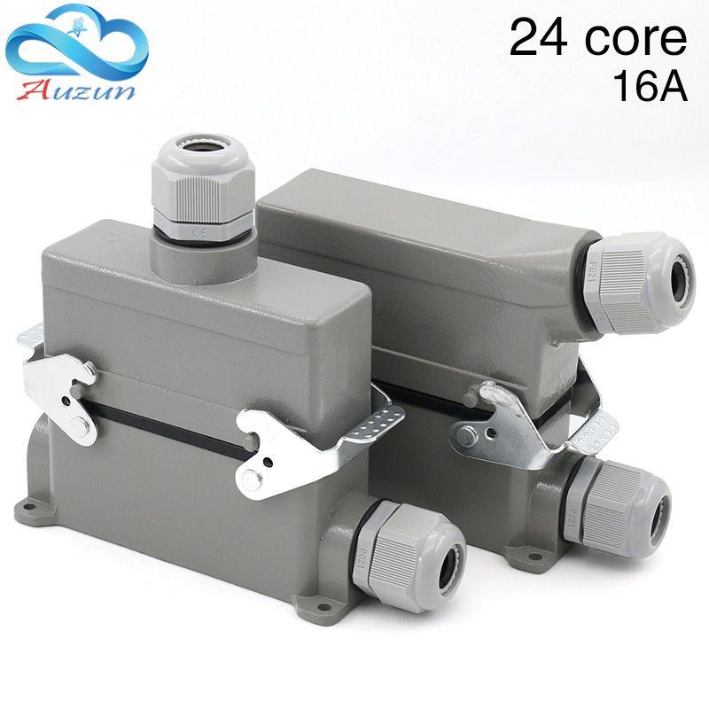 H16B-IL-024-3 24 base heavy connecteurs haute base un deux-bouton 16 a500v vis sur les deux côtés