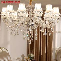 Moderne LED Cristal Lustres Luminaires De Luxe lustre de cristal Lumières Lustres Pour Salon Chambre