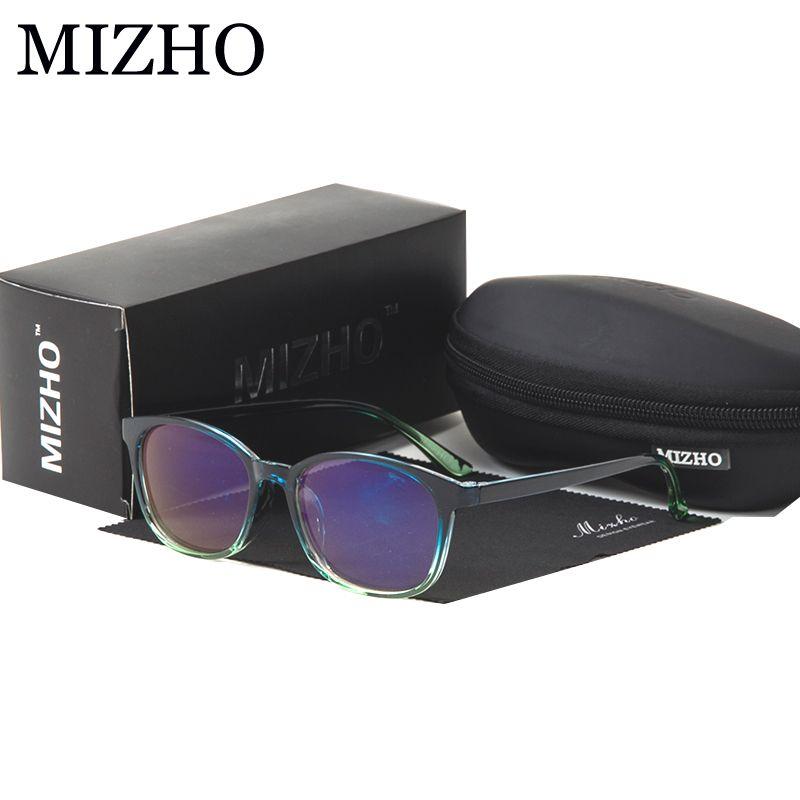 MIZHO Filtering Blu-ray Protect Eyesight Superstar Eyeglasses Women Vintage goggles Transparent Safety Glasses Men frame TR90