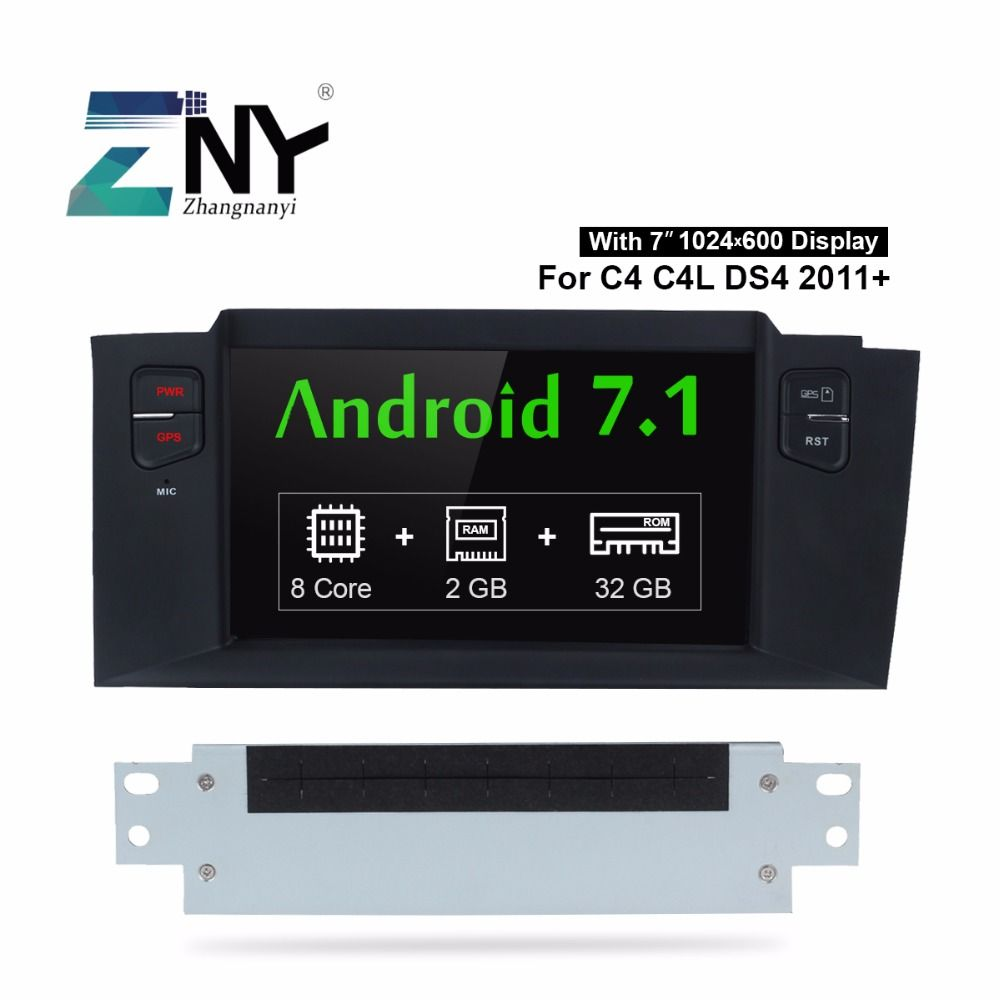 Free Taxes Android 7.1 Car DVD Stereo For Citroen C4 C4L 2011 2012 2013 2014 2015 7