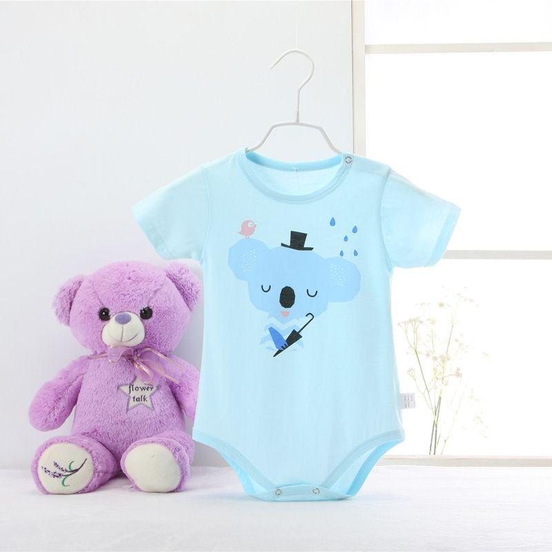Для малышей и детей постарше короткий рукав Мышь мультфильм ребенка ползунки для маленьких девочек симпатичная одежда для новорожденных К...