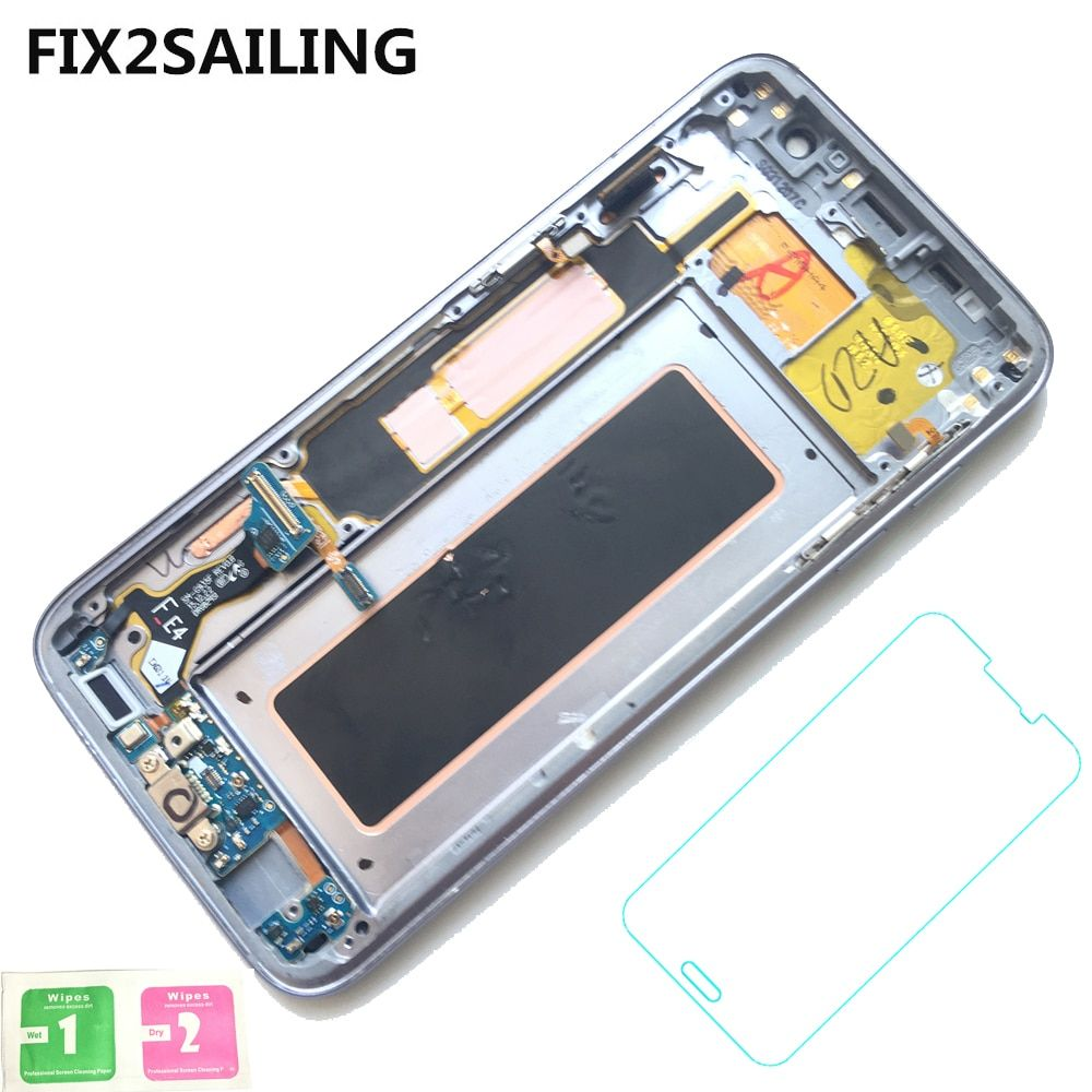 New Super AMOLED LCD Display 100% Tested Working Touch Screen Frame Assembly For Samsung Galaxy S7 edge G935F G935FD G935W8