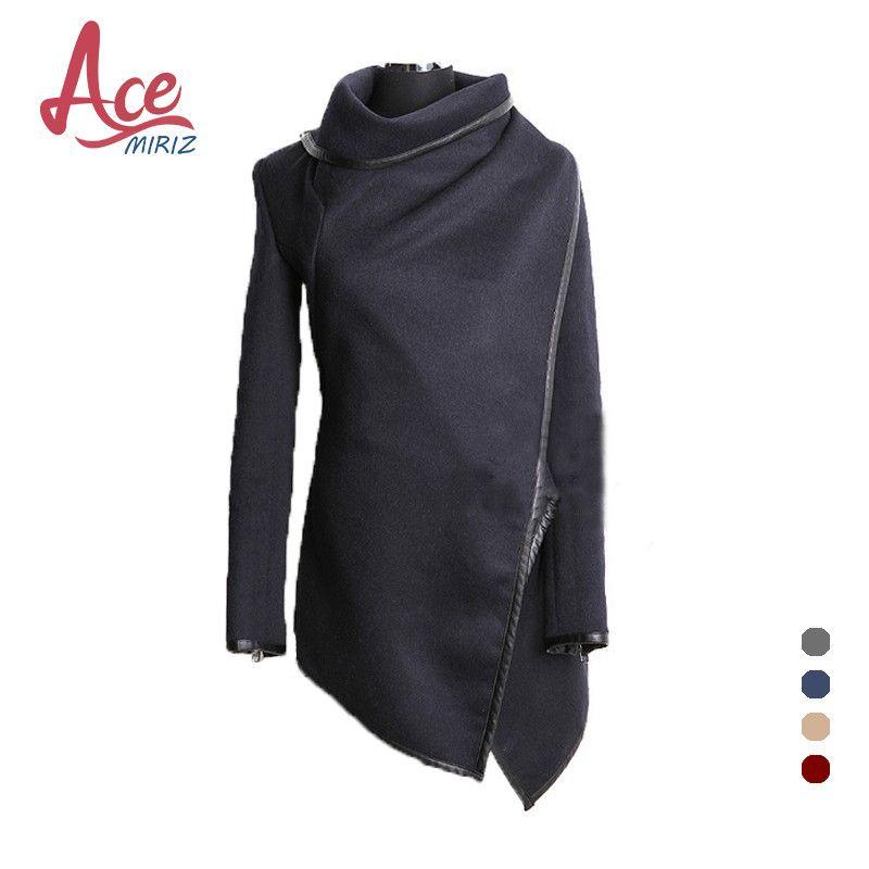 Spring Autumn Hot Sale Irregular Asymmetry Long Trench Coat Women Overcoat Womens Coats Manteau Abrigos Mujer AWC0016