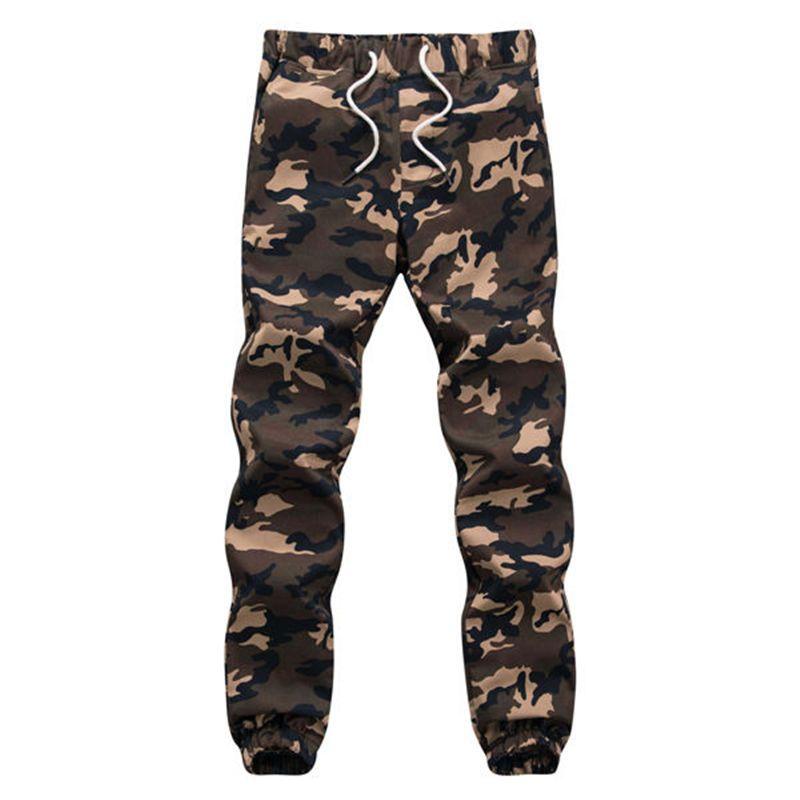 100% Cotton Mens Jogger Autumn Pencil Harem Pants 2018 Men Camouflage Military Pants Loose Comfortable Cargo Trousers Camo Jogge