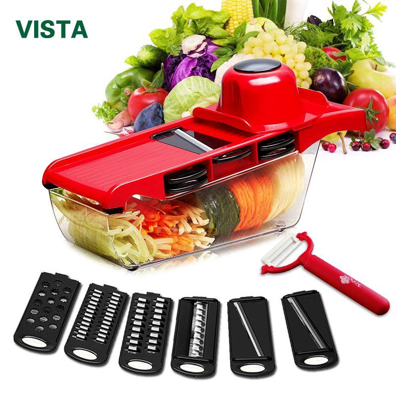 Myvit coupe-légumes avec lame en acier Mandoline trancheuse éplucheur de pommes de terre carotte fromage râpe trancheuse de légumes accessoires de cuisine