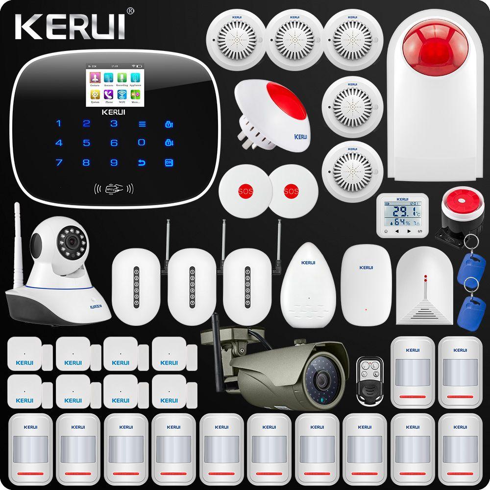 Kerui W193 3G WIFI PSTN GSM Hause Einbrecher LCD Touch Screen Alarm Home Security Alarm System 1080 P Im Freien wifi Kamera