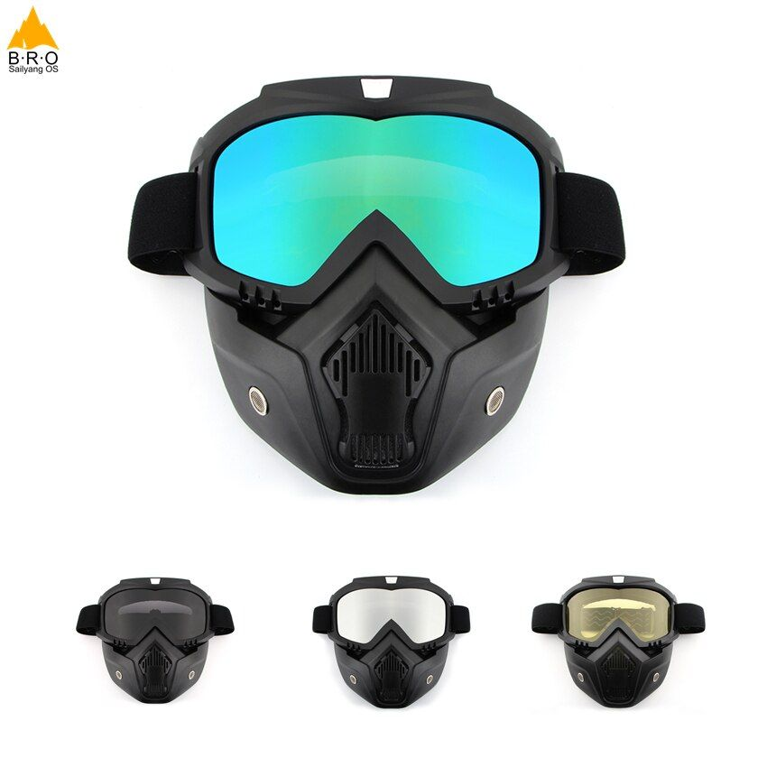 Men/Women Dust-proof Cycling Bike Full Face Mask Windproof Winter Warmer Scarf Bicycle Snowboard Ski Masks with anti-UV glasses