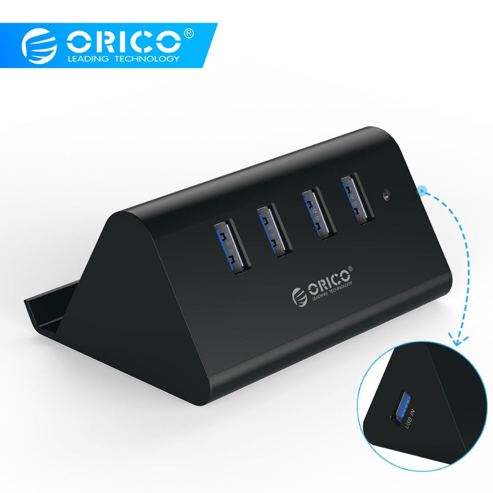 ORICO SHC-U2/U3 Mini 4 ports USB 2.0/USB 3.0 HUB avec support de tablette pour téléphone-noir/blanc