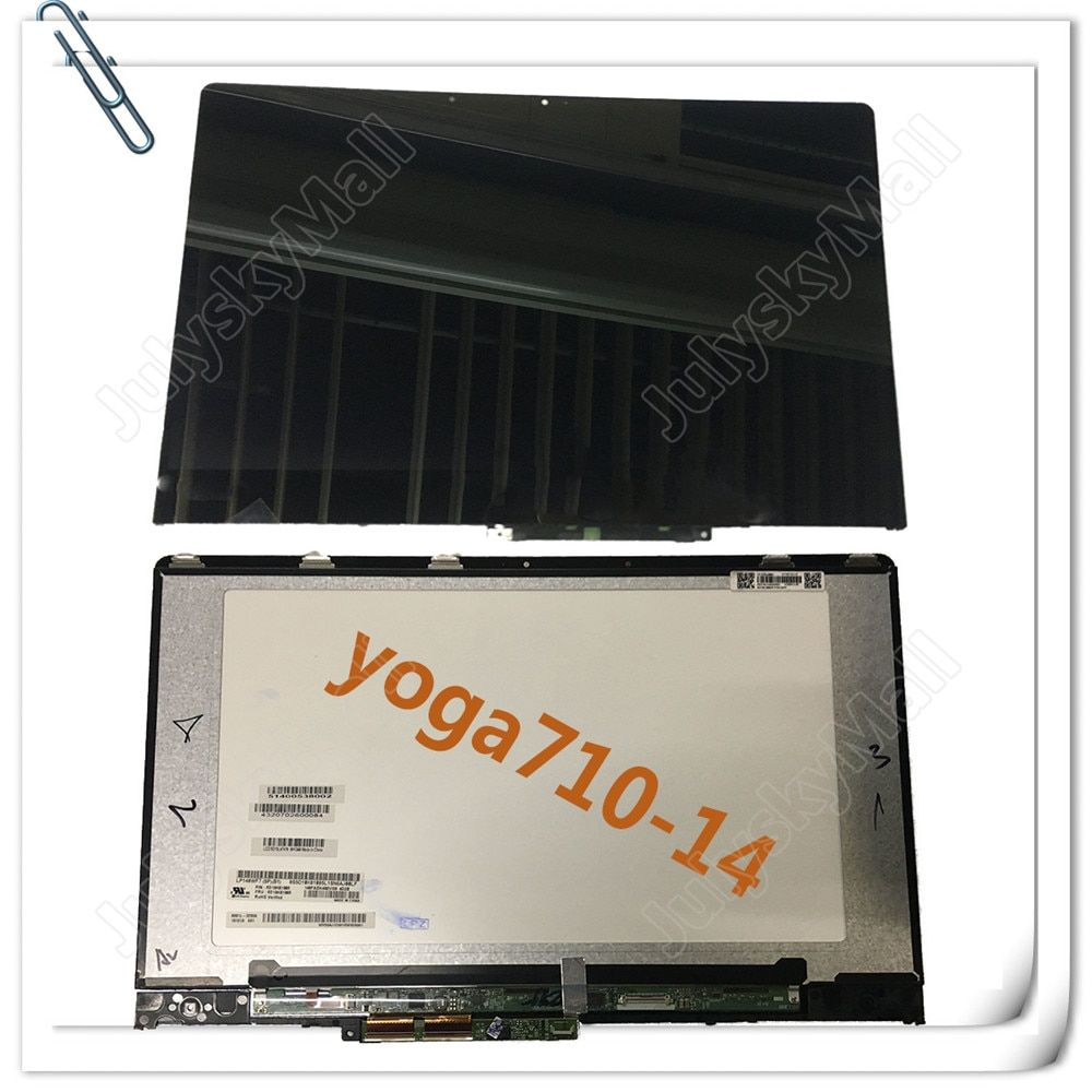 For Lenovo Yoga New 710-14 Yoga 710 14 Yoga 710-14IKB 80V4002NCD 1080P LCD LED Touch Screen Components and Frames