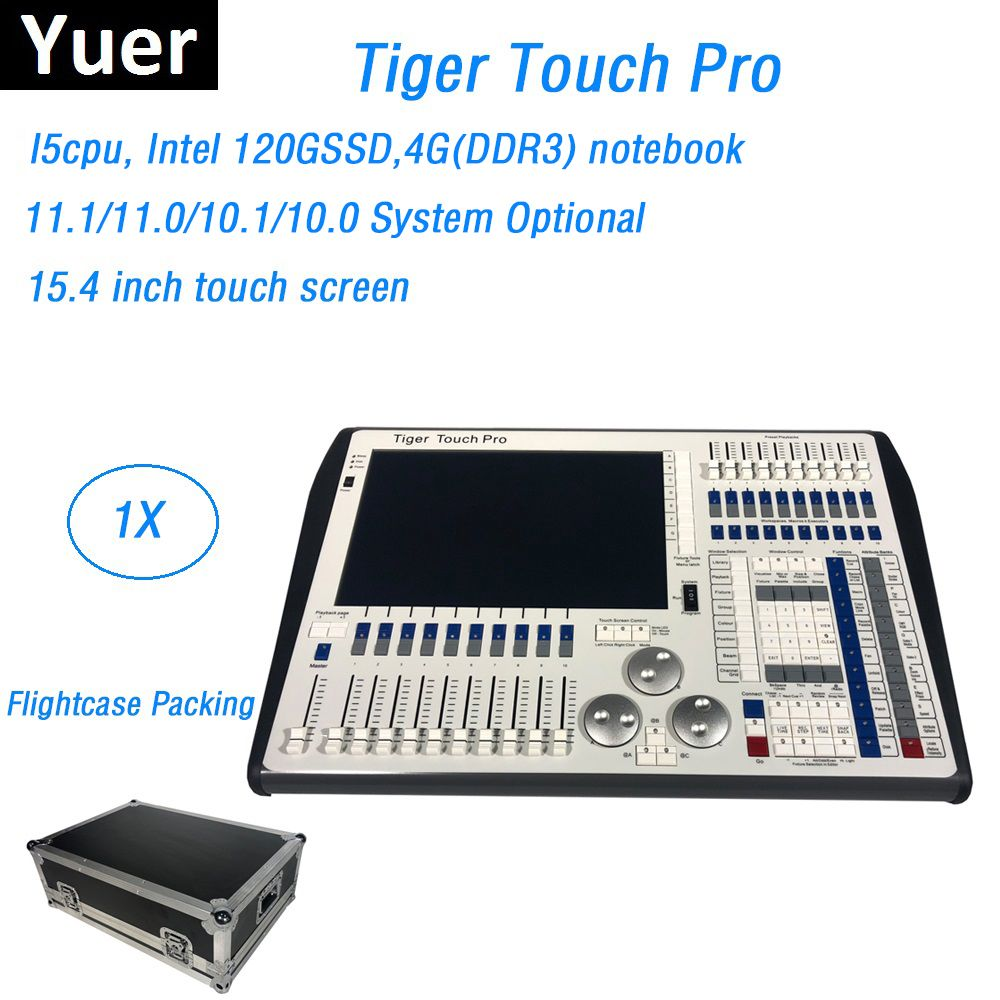 Flightcase Packing DMX Stage Dj Lighting Controller 11.1 System Tiger Touch Pro Console Control LED Par Moving Head Beam Lights