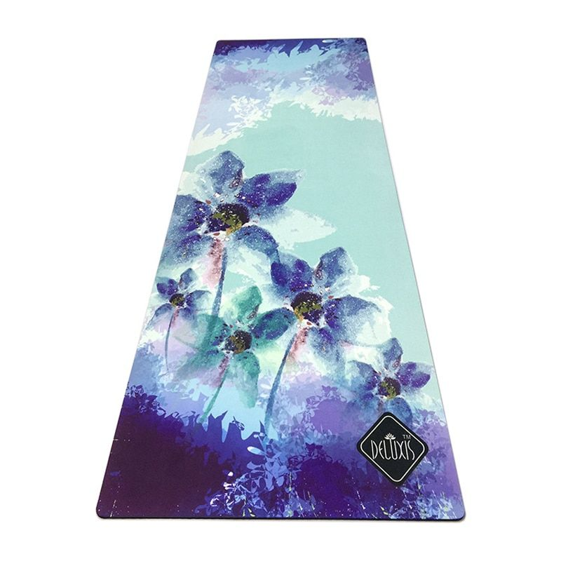 183cm*61cm*3.5mm Natural Rubber Absorb Sweat Environmental Comfortable Suede Fabric Non-Slip Lose Exercise Yoga Mat