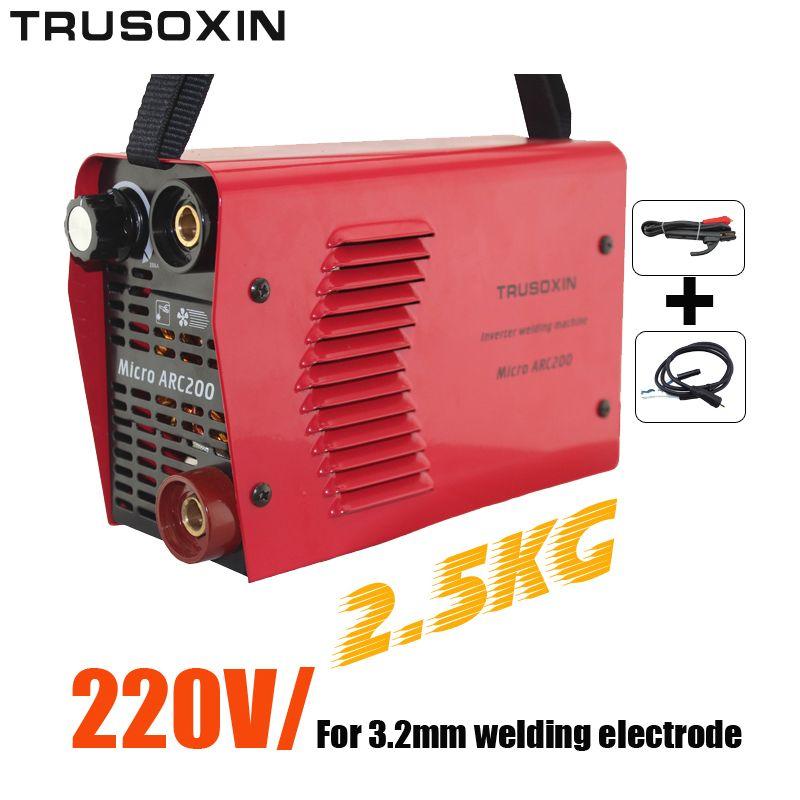 3,2 MM Elektrode 220 V 2,5 kg Igbt-wechselrichter DC Hand Protable Schweißmaschine/Schweißgeräte Schweißer Mit Zubehör