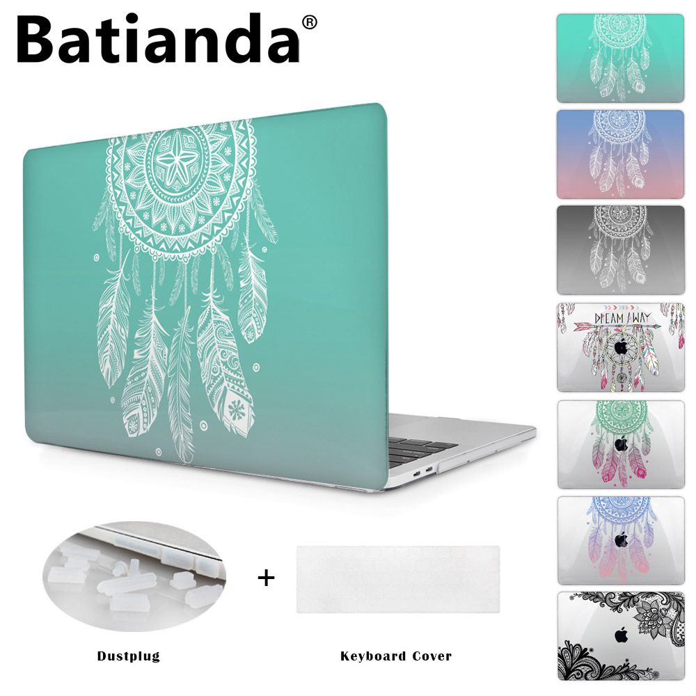 Colorful Gradient Color Cover Sleeve Case For Apple Macbook Pro Retina 13.3 12 15.4 Air 13 11 New Pro 13 15 Dream Catcher A1706