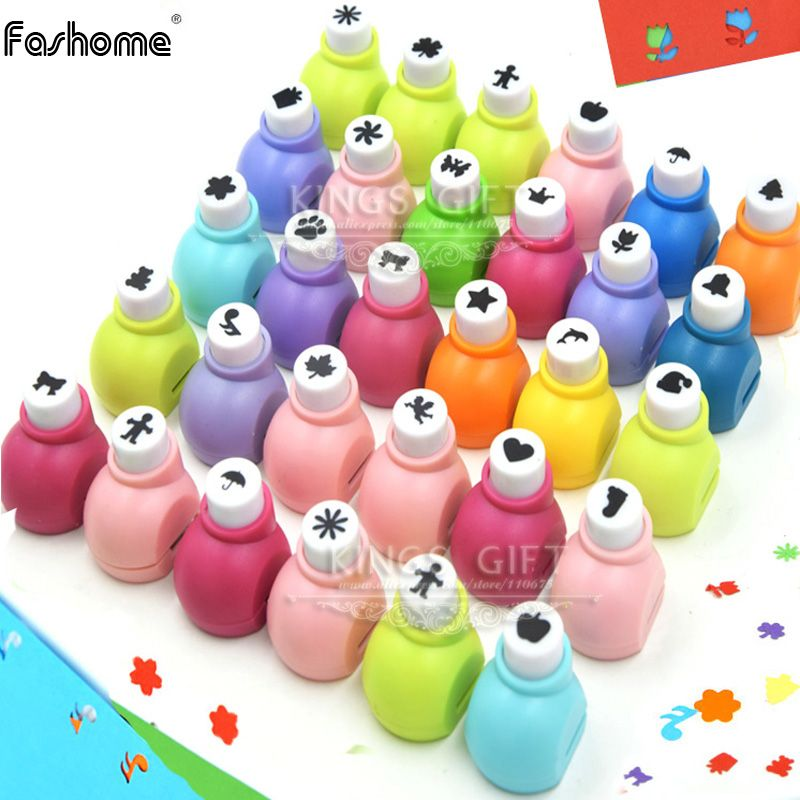 Pack of 10pcs/20pcs Mini Craft Punch For Scrapbook, Paper Punch For Handmade Work, DIY Card, DIY Punch Kids Toys Hobbies