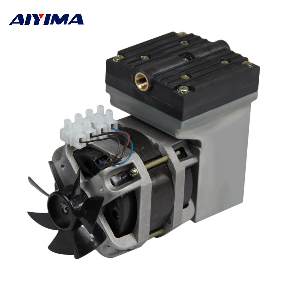 AIYIMA AC 220 V 80 W Oilless Membran Vakuumpumpe Elektrische Mini 33L/Min Vakuum Fluss