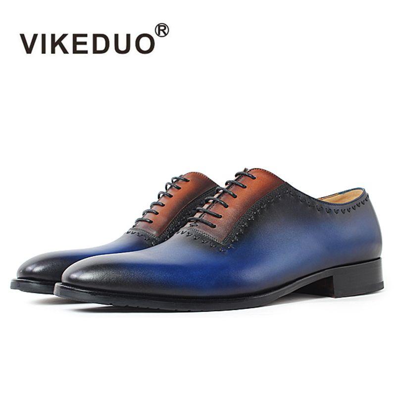 2018 caliente Hecho A Mano Italia Diseñador de Los Hombres de Oxford Zapatos de Cuero Genuino de Moda de lujo Del Banquete de Boda de Baile vestido formal de la Marca zapatos