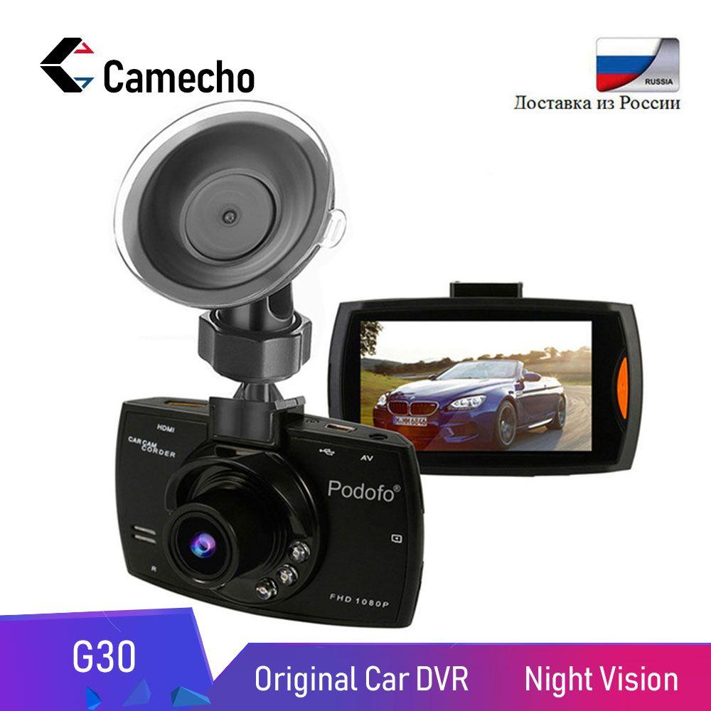 Camecho voiture DVR caméra 2.7 G30 Full HD 1080P 170 degrés Dashcam Registrars Vision nocturne enregistreur vidéo g-sensor Dash Cam DVRs