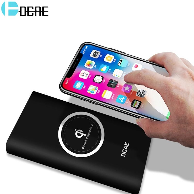 Qi Wireless Charger 10000mAh Power Bank For iPhone X 8 <font><b>Plus</b></font> Samsung Note 8 S9 S8 <font><b>Plus</b></font> S7 Portable Powerbank Mobile Phone Charger