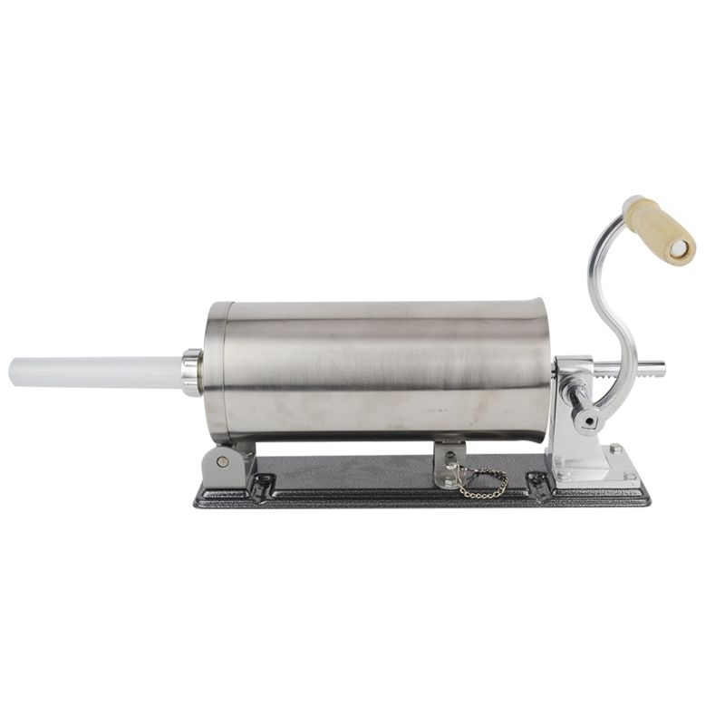 6 LBS homemade sausage stuffer filler stainless steel manual table sausage maker kitchen tool meat processor sausage maker