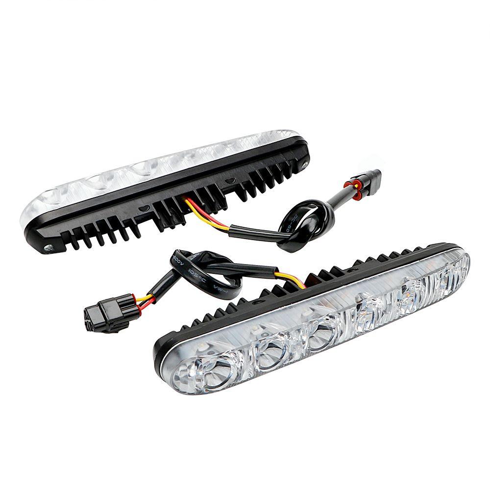 1 Pair Auto Daytime Running Lights Car Daytime LED Light Car Styling DRL DC 12V Turn Signal Indicators Super Bright Daylight