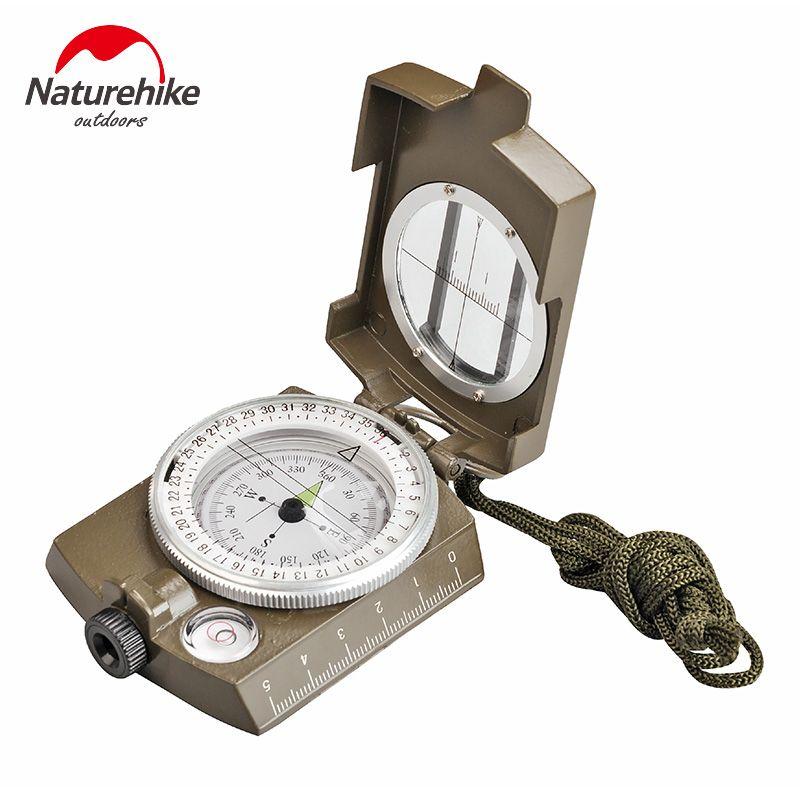 NatureHike Luminous Lens Digital Geological American Compass Marine Outdoor Camping Military Sports Navigator Equipment Bussola