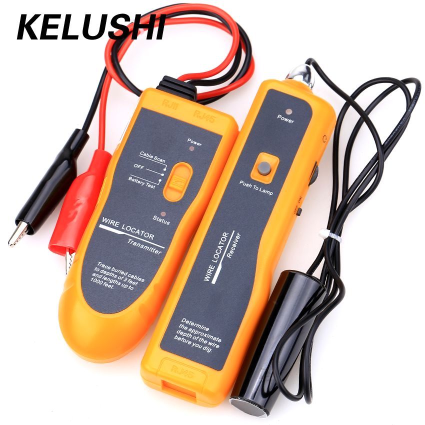 KELUSHI Free Shipping ! NF-816 Underground Wire Locator Wire tracker With LED for electrical wire, telephone drops ,CATV coax